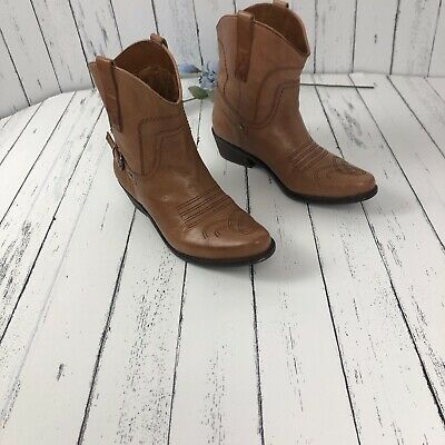 3d693694dfc FRANCO SARTO WACO Pointed Toe Cowboy Western Ankle Boots Women's Size 7.5  Cognac