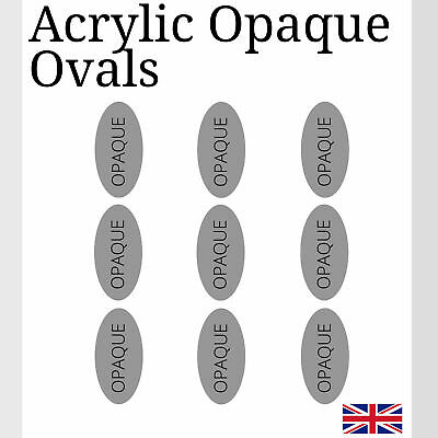 Opaque Black Oval Acrylic Various Sizes small Arts & Crafts 5mm K&M