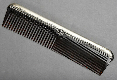 Antique International Silver Co. Sterling Backed Dresser Comb - teeth intact