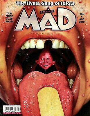 Mad Magazine #8 August 2019 Uvula Gang Alfred E Neuman Cool Piece History Measle