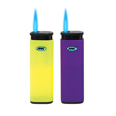 10 Full Size MK JET TORCH Assorted Color Lighters Windproof Refillable Lighter