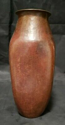 "Vintage Hammered Copper Vase - Mexico - 7 1/2"" Tall"