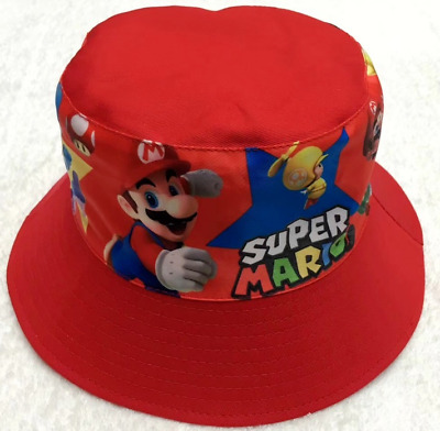 Children's Cotton Bucket Hat - Mario Bros - Blue