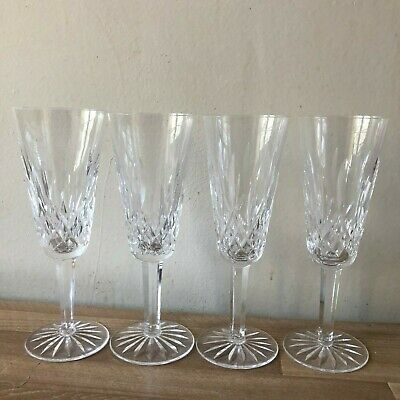 Lovely Set of 4 Waterford Lismore Champagne Flutes