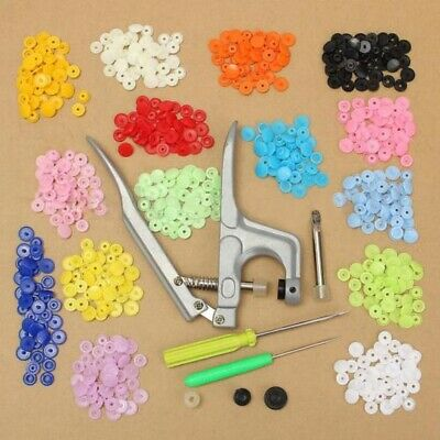 15 Colors 150 Sets T3/T5 KAM Resin Plastic Snap Fasteners Poppers Buttons Studs