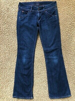 ad95f951712 Women's Hudson Signature Dark Wash Boot Cut Stretch Flap Pockets Jeans Size  27