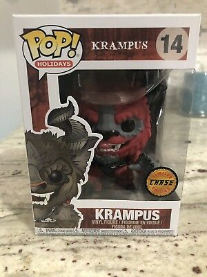 Funko Pop! Horror Movies Holiday Krampus Chase Red Rare Htf