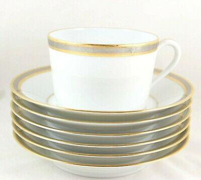 Set Cup & Saucer Robert Haviland Parlon Limoges Chambord Gold Platinum Encrusted