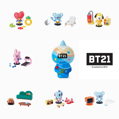 BTS BT21 Collectible Summer Vacation Series Blind Box Mini Figure Toys 1pack