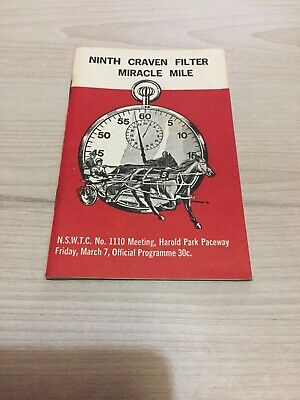 1975 Harold Park Miracle Mile trotting race book Young Quinn