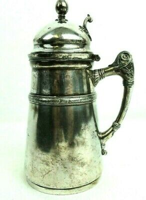 Antique Rodgers Smith & Co Quadruple Plate Syrup Pitcher #188 Pat 1865 Made 1873