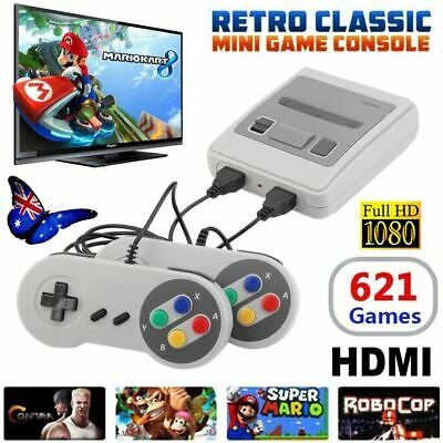 Built-in 621 Games Classic Retro NES Mini Game Console TV HDMI Gamepads Nintendo