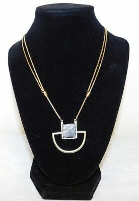 a33a5965c 14TH UNION NORDSTROM NWT Gold Plated Genuine Stone Pendant Multi-Strand  Necklace