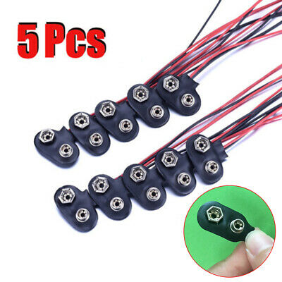 9V Battery Buckle Snap Connector clip 6F22 Batteries Holder Lead Wires holders