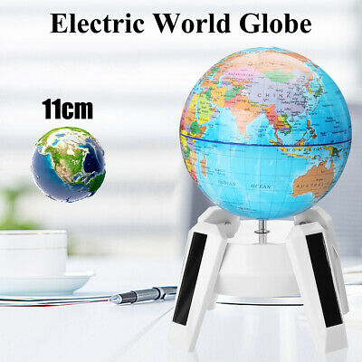 Electric Auto World Globe Rotating Earth Map Geography Kids Learning Home Decor