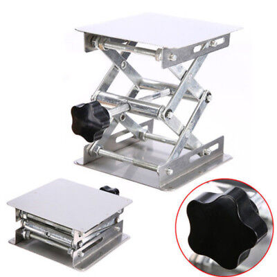 "3.2* 3.2"" Stainless Steel Lab-Lift Lifting Platforms Stand Rack Scissor Lab Jack"