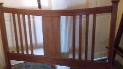 Vintage/Edwardian inlay Double Bed With Side Rails