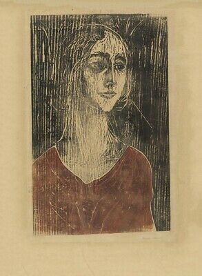 Two People 3 EDVARD MUNCH 1899 Symbolism Art Poster Expressionism