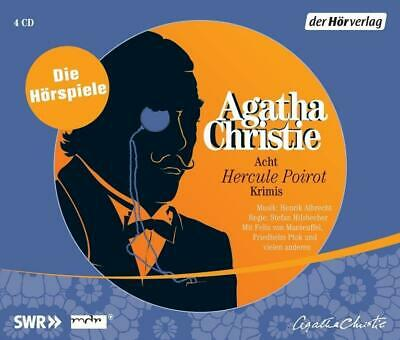 Acht Hercule Poirot Krimis Agatha Christie Audio-CD Hercule Poirot 4 Audio-CDs