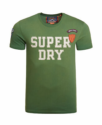 New Mens Superdry Upstate Wash Short Sleeve T-Shirt Outback Green