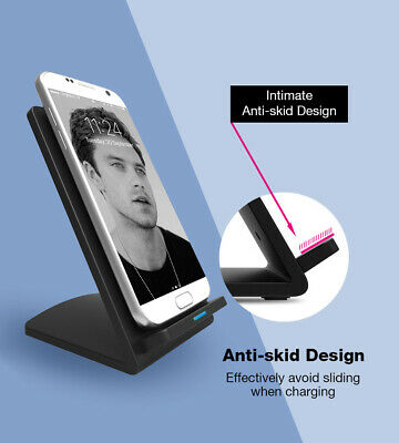 Genuine Fast Qi Wireless Charger Stand Dock For iPhone X 8 Plus XR XS Luxury New