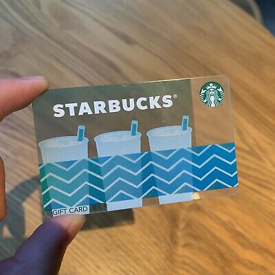 Starbucks 2019 China Fun Cup Series Design Collection Blue Cup Gift Card