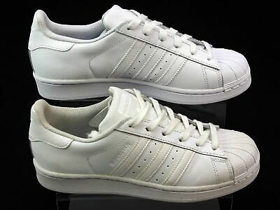 Unisex Adidas Originals Superstar White Leather Running Trainers Size 5.5 Faded
