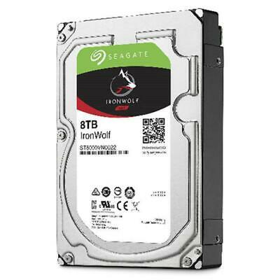 Seagate ST8000VN0022 8TB IronWolf 3.5in SATA3 NAS 24x7 7200 RPM 256MB