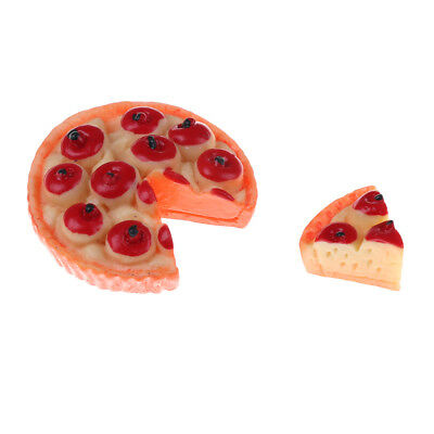 1 Set Pizzas 1:12 Dollhouse Miniatures Mini Simulation Foods For Doll PJU