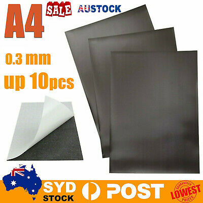 AU HOT 1-20x A4 0.3mm Magnetic Magnet Sheets Thickness Crafts Material  RK