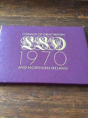 1970 Royal Mint Coinage of Great Britain & NI Proof Coin Set Pre-decimal £.