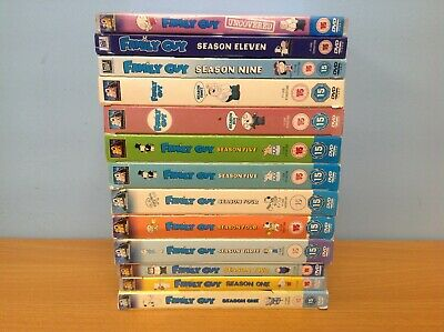 BUNDLE of Family Guy DVD Box Sets Season's 1 2 3 4 5 6 8 9 11 & Uncovered