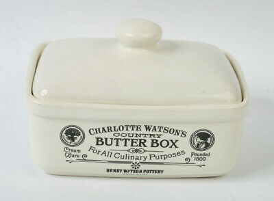 Charlotte Watson's Country Butter Box Cream Ceramic Butter Dish