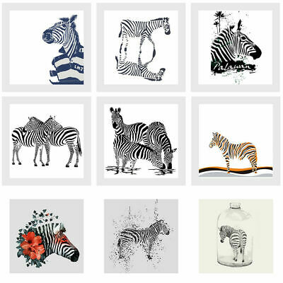 UK Animals Zebra Art Prints Paintings on Canvas Picture Wall Mural Decoration
