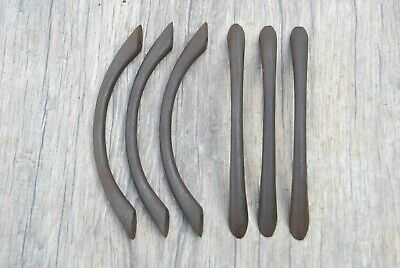 6pcs vintage victorian cast iron door cabinet screen handles pull rustic 5.7""