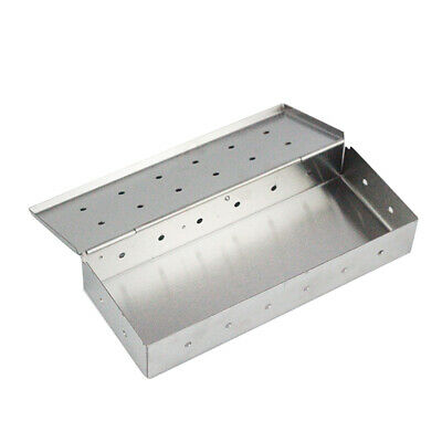 Stainless Steel Meat Smoking Smoker Box for BBQ Wood Chips Add Smokey Flavor NEW