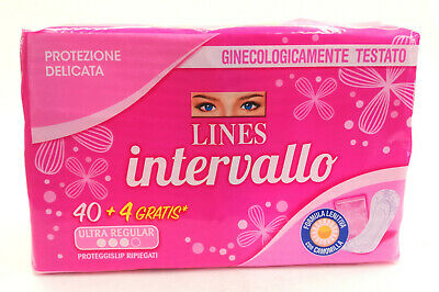 Proteggi Slip - Ultra Regular - Intervallo Lines - 44 Salvaslip Ripiegati