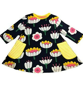 Ex Mini Boden Girls Kids Floral Printed Tunic Dress Age 2 - 12 Years (i30.4)