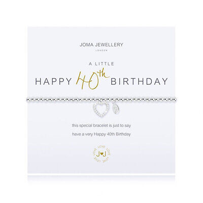 a little 40th Birthday bracelet Silver Plated Joma Jewellery with Gift Bag