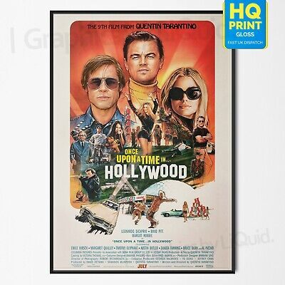Once Upon A Time In Hollywood 4th Tarantino Movie 2019 Poster | A4 A3 A2 A1 |