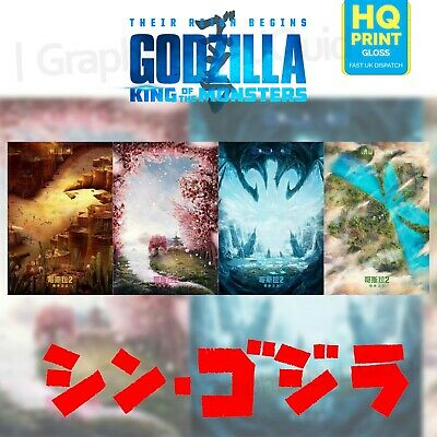 Godzilla King Of The Monsters Poster Art Chinese Styles Movie 2019 | A4 A3 A2 A1
