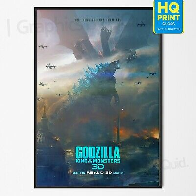 Godzilla King of the Monsters Film Poster MonsterVerse Movie 2019 | A4 A3 A2 A1