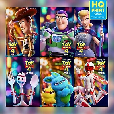 Toy Story 4 Movie 2019 Character Posters Tom Hanks Film Print | A4 A3 A2 A1 |