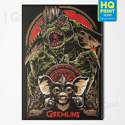 Gremlins 1984 Classic Horror Movie Wall Art Poster | A4 A3 A2 A1 |