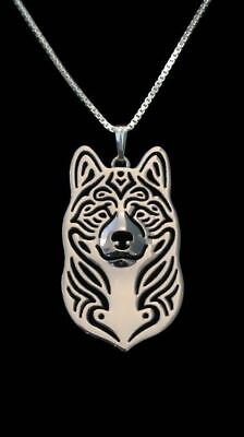 Akita Pendant Necklace Designer Collectable Jewellery Gift with Chain - Silver