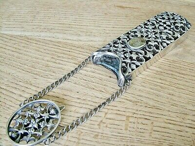 Unusual Design Hm1871 Antique Solid Silver Glasses Spectacle Case Chatelaine