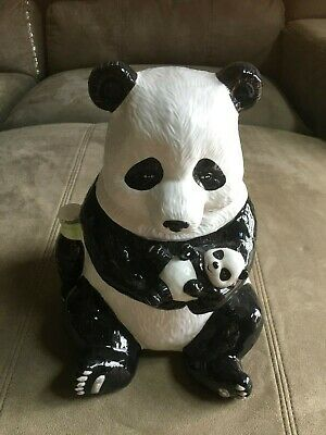 2000 Collectible  Coke Coca Cola Limited Edition  Panda Bear Cookie Jar Rare