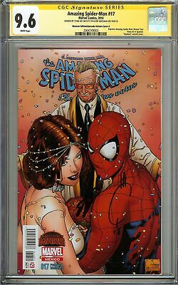 Amazing Spider-Man #17 CGC 9.6 SS 2x STAN LEE & QUESADA Mexican Variant Unmasked