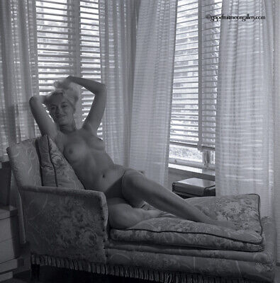 Bunny Yeager Camera Negative Pin-up Photograph Seductive Nude Dramatically Lit