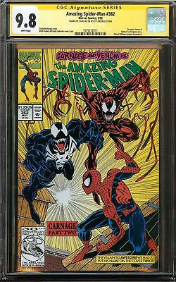 Amazing Spider-Man #362 CGC 9.8 SS STAN LEE Carnage Venom Human Torch Appearance